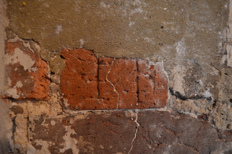 The carved initials of Edward Bathhurst the first owner of Finchcocks. Image copyright Rachael Hale